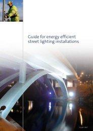 Guide for energy efficient street lighting installations - E-streetlight