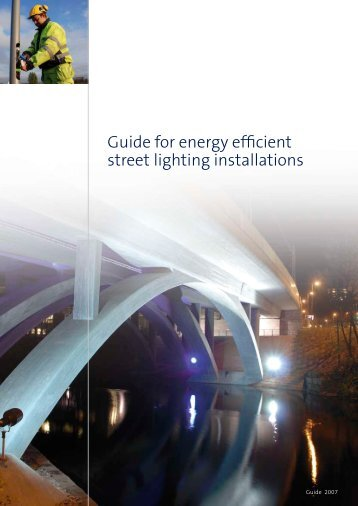 Guide for energy efficient street lighting installations - E-streetlight