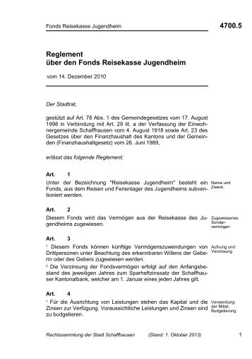4700.5 - Stadt Schaffhausen