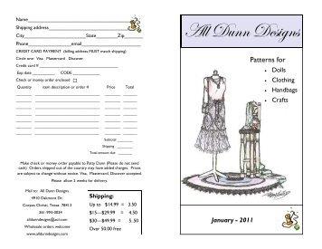 Garment Patterns - All Dunn Designs