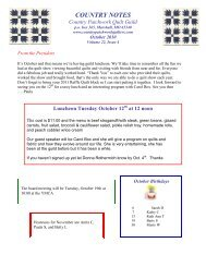 October 2010 - Country Patchwork Quilt Guild
