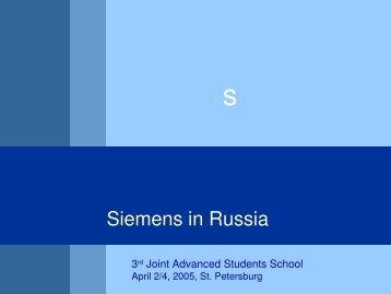 Siemens in Russia