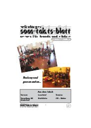 Sonntaktsblatt 12, Ausgabe 2/2001 (ca. 1.230 KB) - Arbeitskreis ...