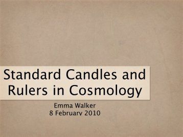 Standard Candles and Rulers in Cosmology
