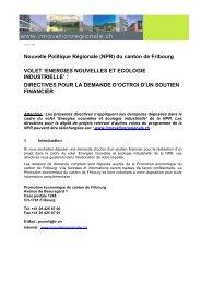 Directive pour la demande d'octroi d'un soutien financier