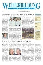 Akademische Weiterbildung - Weiterbildungsakademie der ...