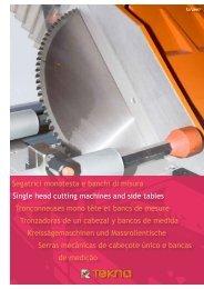Single-head cutting machine