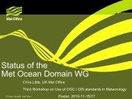 Status of the Met Ocean Domain WG, in - Open Geospatial Consortium