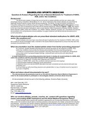 ADHD Notification Form - Sonoma State University Athletics