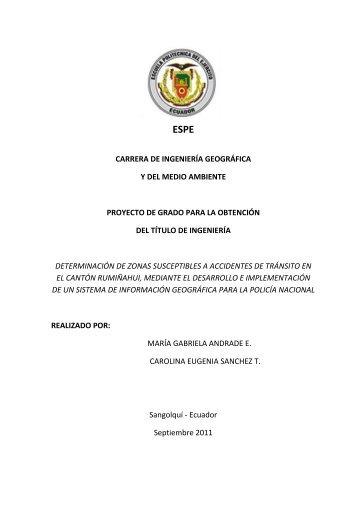 carrera de ingeniería geográfica y del medio ambiente proyecto de ...