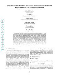 Gravitational Instabilities in Gaseous Protoplanetary Disks and ...