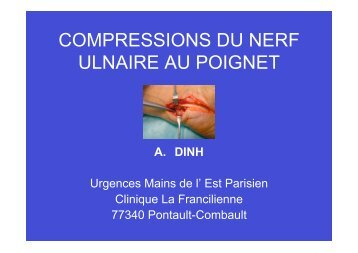 COMPRESSIONS DU NERF ULNAIRE AU POIGNET - ClubOrtho.fr