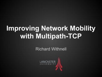 Improving Network Mobility with MPTCP