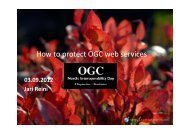 How to protect OGC web services - Open Geospatial Consortium