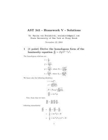Astronomy     Homework    solutions