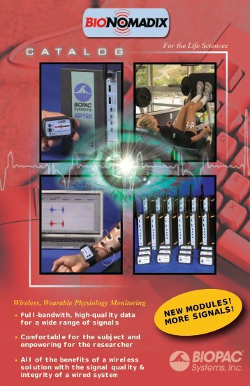 BioNomadix Catalog - Biopac