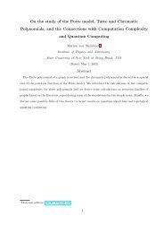 On the study of the Potts model, Tutte and Chromatic Polynomials ...