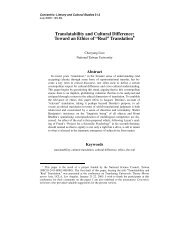 Translatability and Cultural Difference: Toward an ... - Concentric