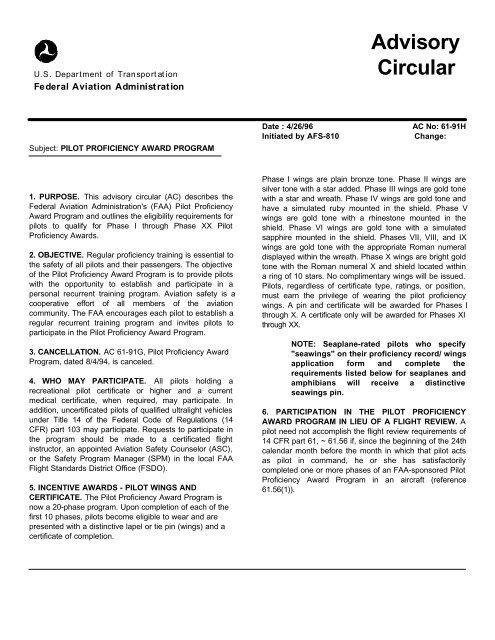 Advisory Circular - FAASafety gov