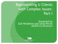 Representing U Clients with Complex Issues: Part I - asista