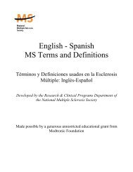 English - Spanish MS Terms and Definitions - National Multiple ...