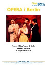 Opera i berlin - GIBA Travel