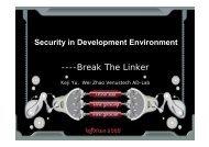 ----Break The Linker - XCon
