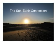 The Solar-Terrestrial Connection