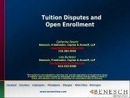 Tuition and Open Enrollment - Benesch