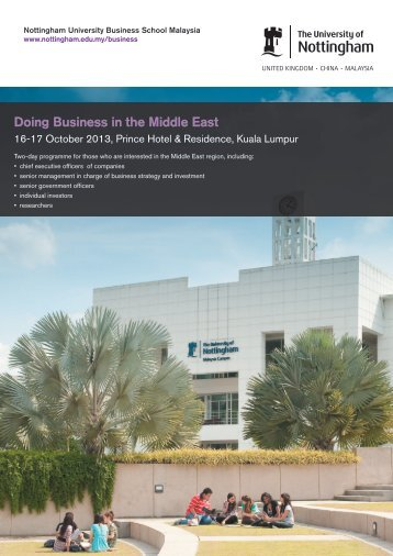 Doing Business in the Middle East - The University of Nottingham ...