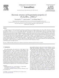 Electronic structure and fragmentation properties of - Chemistry ...