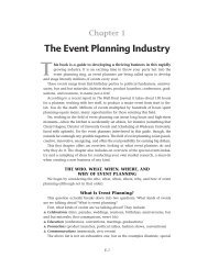 The Event Planning Industry