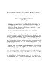 Web Page Quality Estimation Based on Linear Discriminant Function