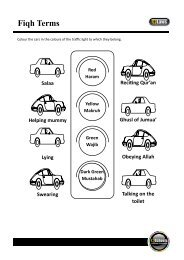 Worksheets on Fiqh - Hujjat Workshop