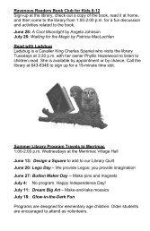 Summer Library Program 2012 June 7 - August 18