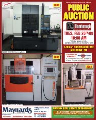 AUCTION - Maynards Industries