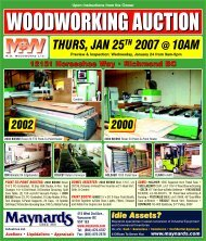 MSW Auction Brochure - Maynards Industries