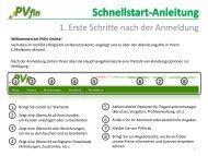 Schnellstart-Anleitung - Erste Schritte - PVfin