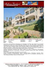 Sol de Mallorca Villa in erster Meereslinie im Suedwesten von ...