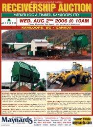Meeker Auction Kamloops - Maynards Industries