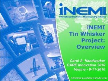 Title of Presentation - iNEMI