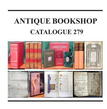 Catalogue 279 - Antique Bookshop