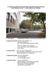 Súťažné podmienky - Fakulta architektúry STU