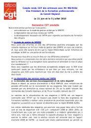 Compte rendu CGT des entrevues avec Mr MEIRIEU ... - CGT AFPA