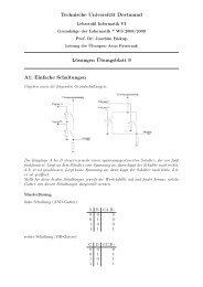 Technische Universität Dortmund Lösungen ¨Ubungsblatt 9 A1 ...