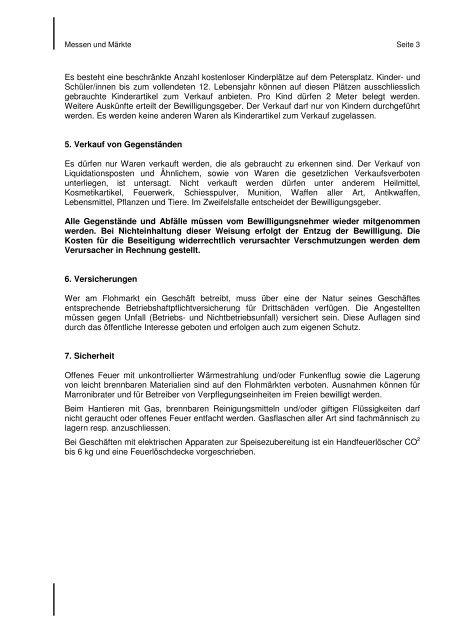 Vorschriften Flohmarkt 2010.pdf - Messen & Märkte