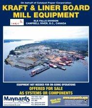 KRAFT & LINER BOARD MILL EQUIPMENT - Maynards Industries