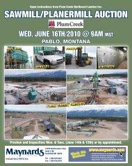 Upon instructions from Plum Creek Northwest Lumber Inc