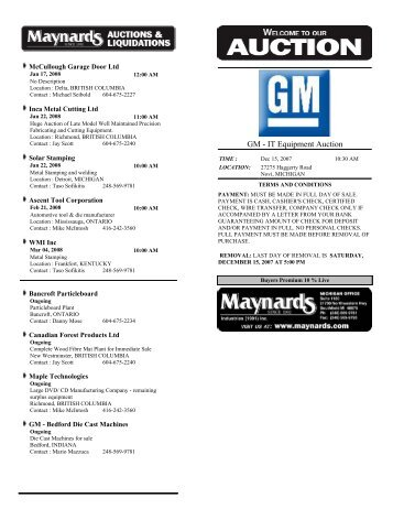 Merveilleux GM   IT Equipment Auction   Maynards