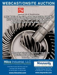 WEBCAST/ONSITE AUCTION - Maynards Industries